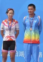 女子公路自行车个人赛  赵茜沙摘铜 - 体育局