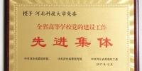 我校党建工作荣获省委表彰 - 河北科技大学