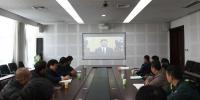 学校领导和部分党政部门负责同志收看庆祝大会.JPG - 河北师范大学
