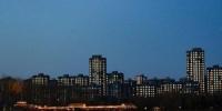 图为大运河森林公园夜景。(拍摄于2020年1月10日) - 中国新闻社河北分社